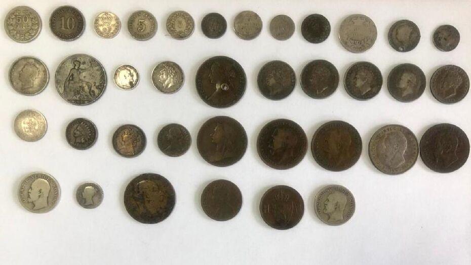 Воронежским таможенникам попался украинец, перевозивший десятки старинных монет