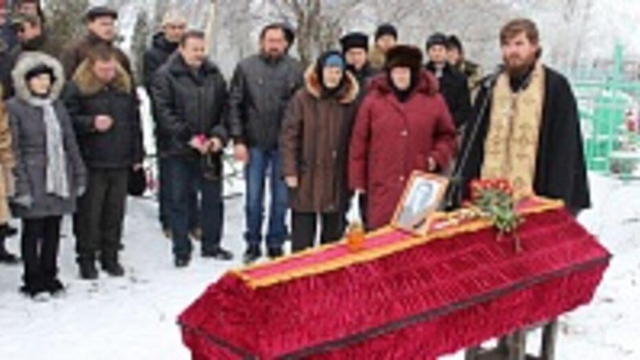 В таловском селе перезахоронили останки солдата, погибшего в годы Великой Отечественной войны