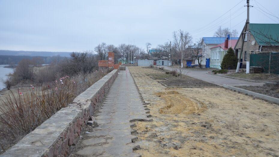 За благоустройством набережной реки Дон в Павловске можно проследить онлайн