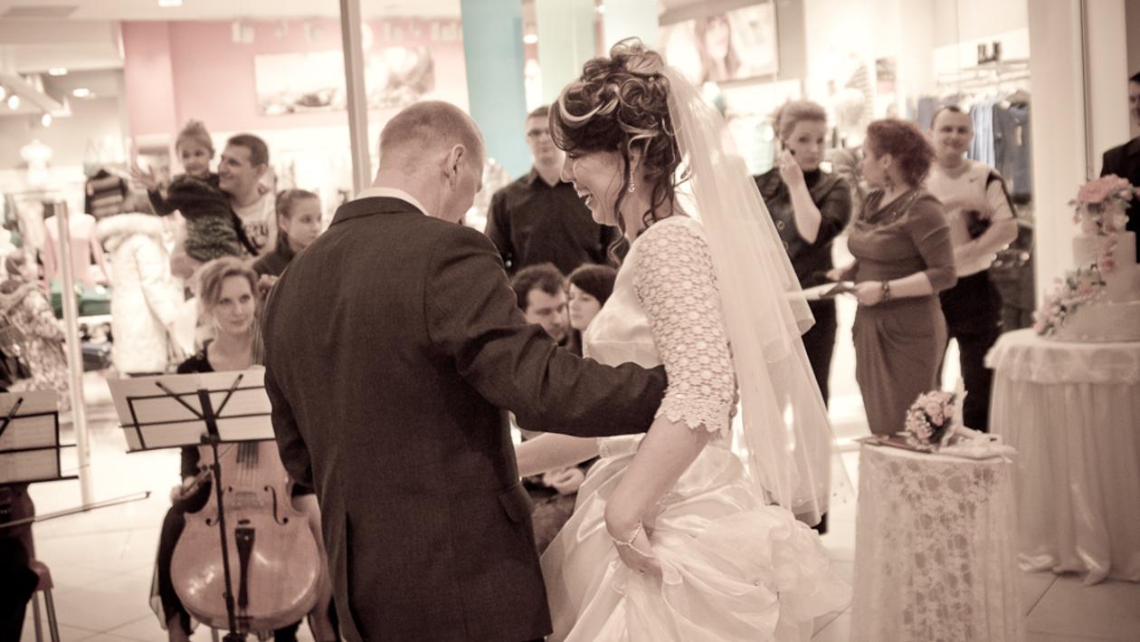 Воронежцы поженились в торговом центре
