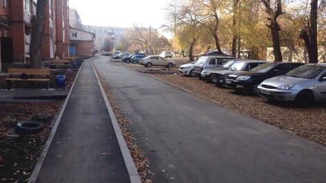 В Семилуках благоустроили территорию двух дворов