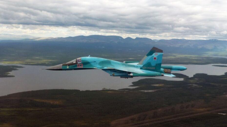 Воронежские авиаторы отправились в небо на Су-34