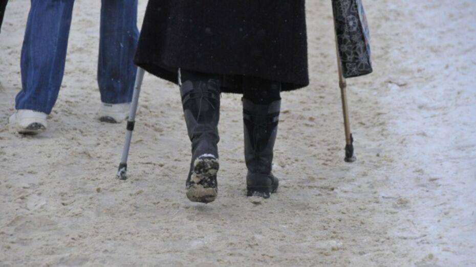 В Воронеже за неделю из-за гололеда пострадала тысяча человек