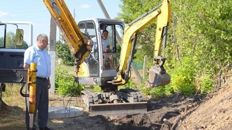 В терновском селе Народное частично заменили водопровод