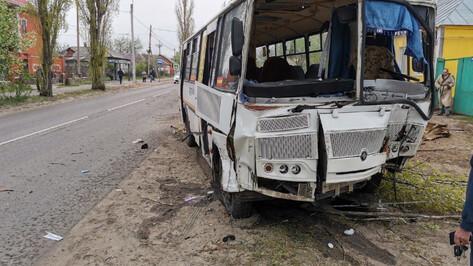 В Воронеже маршрутка врезалась в дерево: пострадали 2 пассажира