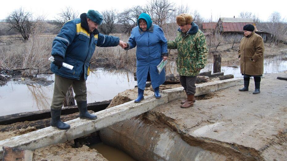 В бутурлиновском селе вешние воды отрезали 100 человек от «большой земли»