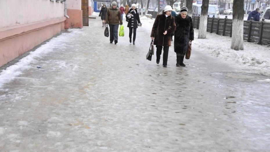 В Воронежской области за 2 недели из-за гололеда пострадали 2504 человека