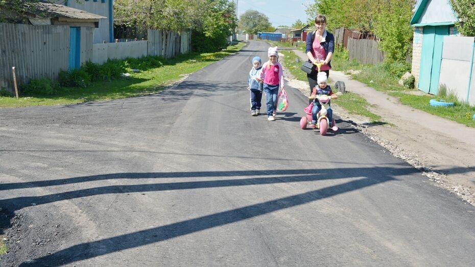 В нижнедевицком поселке завершили строительство дороги