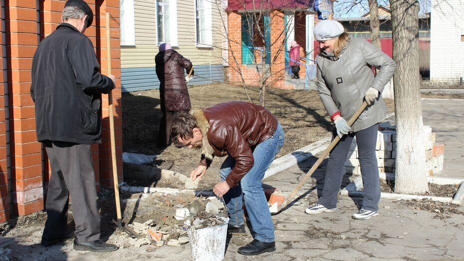 В Таловском районе из-за ранней весны субботники начались раньше обычного