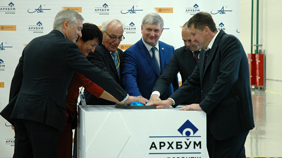 Под Воронежем открыли завод по производству картона на 300 рабочих мест