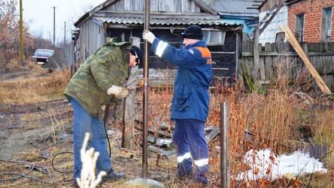 В Верхнем Мамоне в дом многодетной семьи бесплатно подвели газ