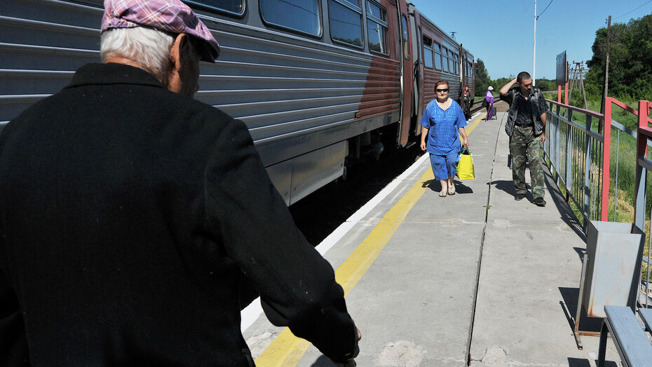 В Воронежской области до осени отменят 2 электрички