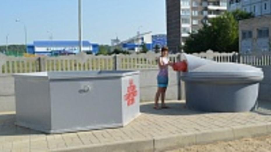 В Северном микрорайоне Острогожска установлены новые мусорные площадки