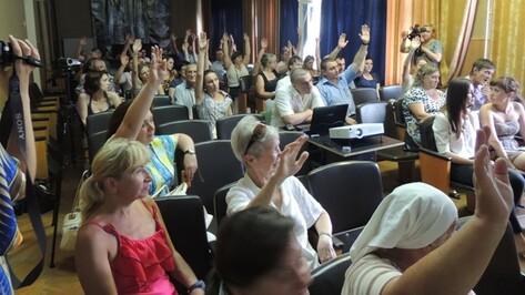 Воронежцы выступили против строительства дороги через нагорную дубраву