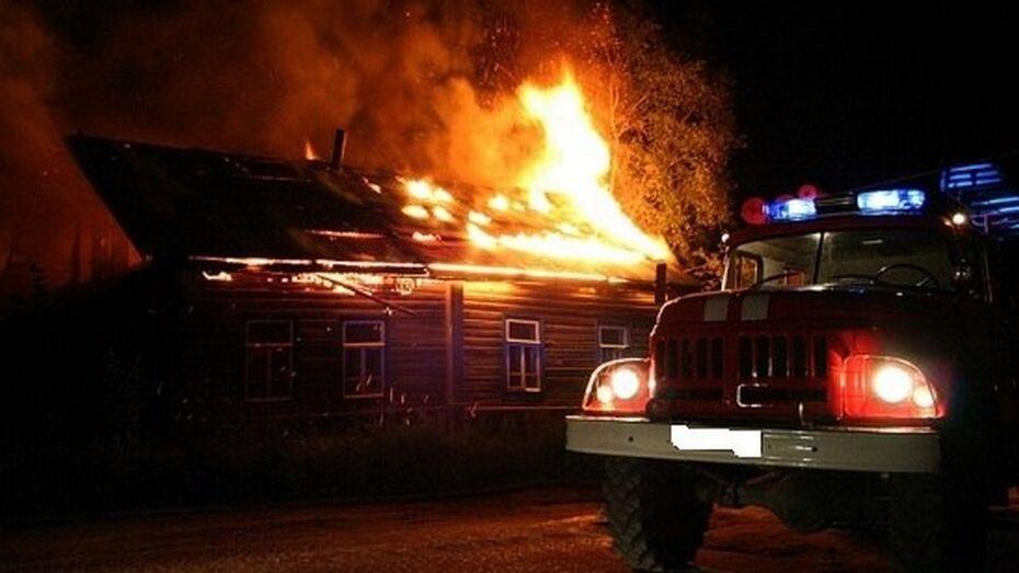 Житель Рамонского района погиб при пожаре в собственном доме