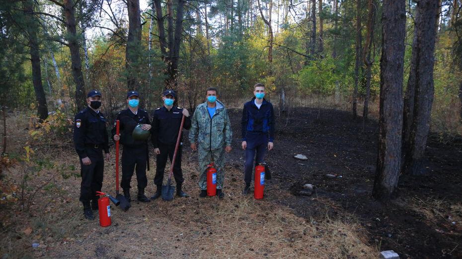 Курсанты Воронежского института МВД предотвратили лесной пожар