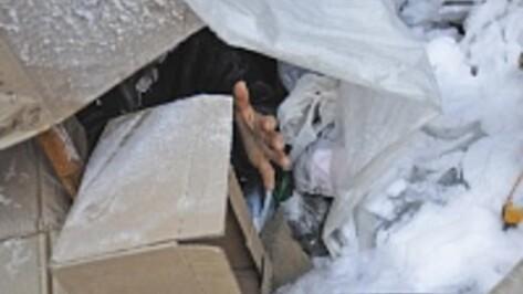 Воронежский бездомный променял официальный пункт обогрева на картонный шалаш