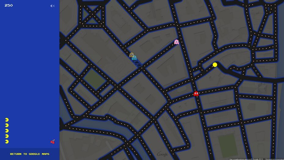 Пользователи Google Maps сыграют в Pac-Man на воронежских улицах