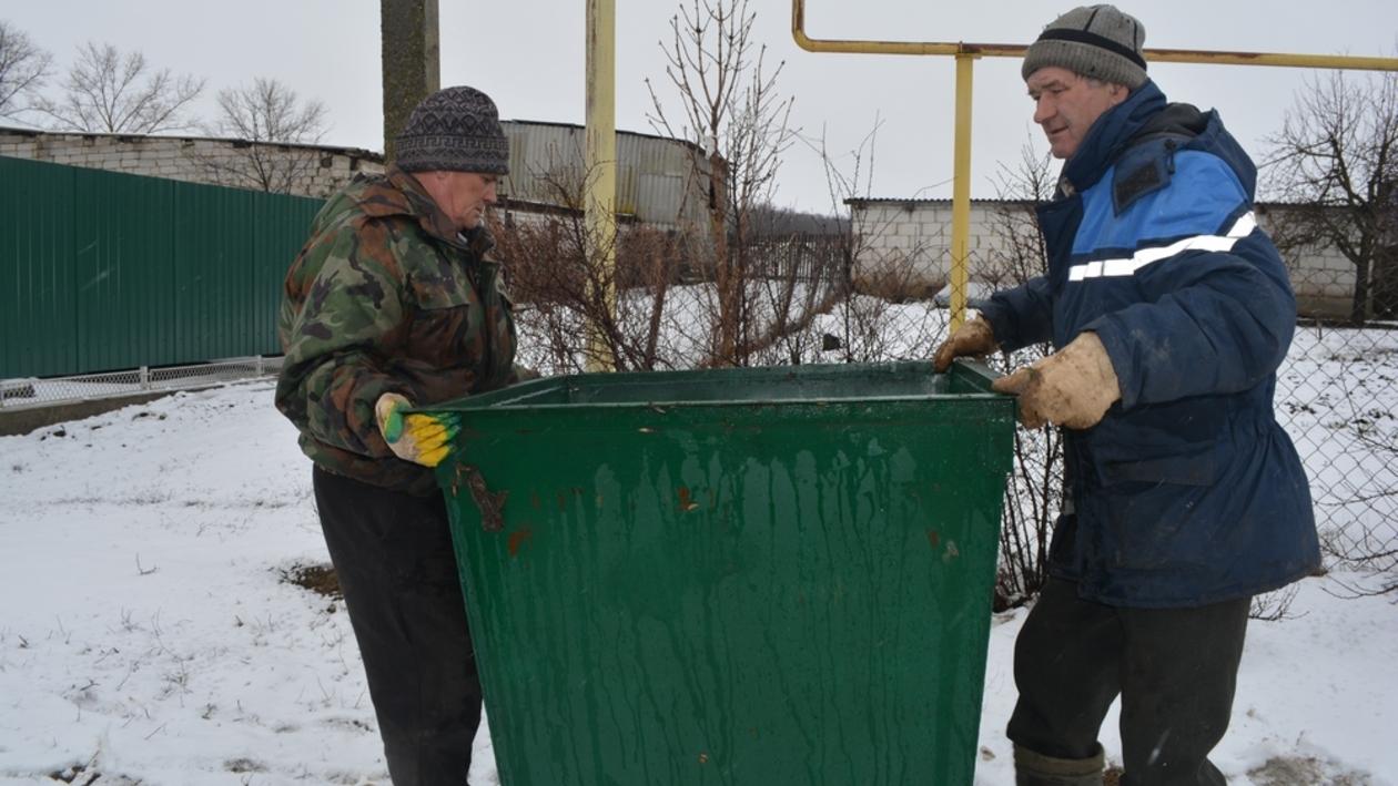 В Нижнедевицких селах установят контейнеры для мусора