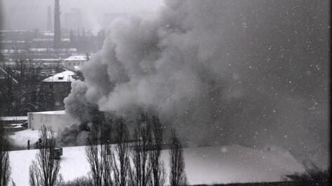 В Воронеже на хладокомбинате загорелся склад
