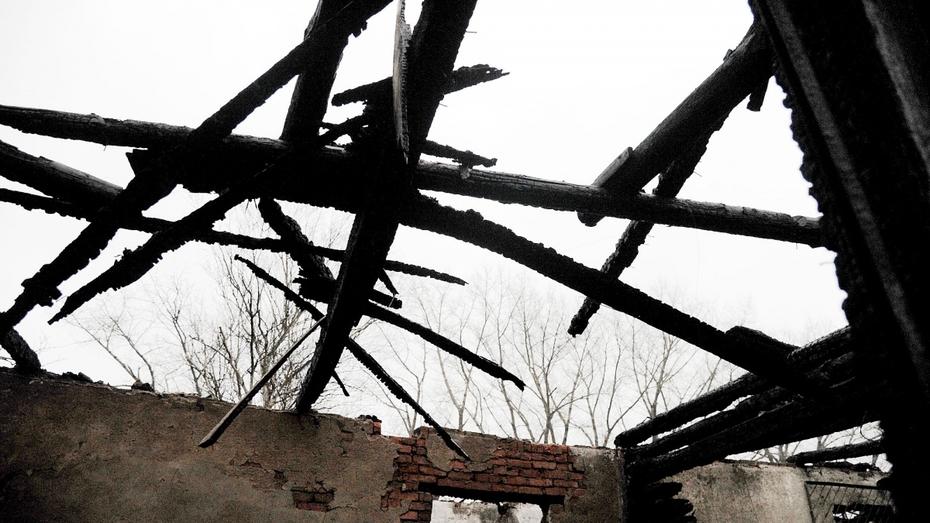 Новохоперская многодетная семья лишилась дома из-за пожара