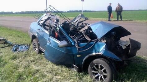 В Верхнемамонском районе столкнулись грузовик и «девятка»