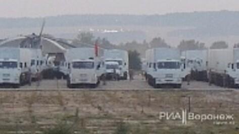 «Белый конвой» гуманитарной миссии на Украину останется в Воронеже на ночь