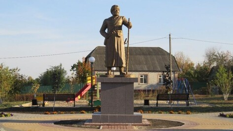 В репьевской Новосолдатке силами ТОСа сделали памятник первым поселенцам