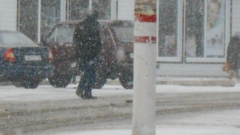 В Таловском районе из-за апрельского снегопада столкнулись сразу 4 автомобиля