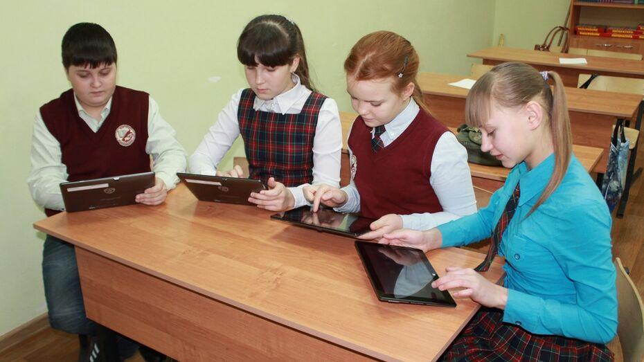 В Хохольской средней школе появились электронные учебники