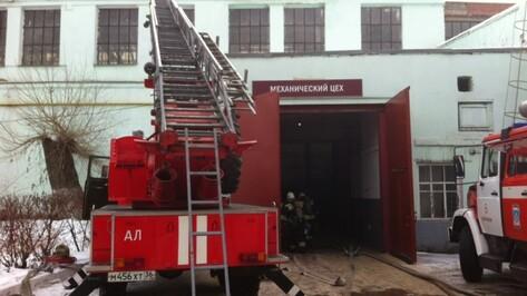 «Воронежский тепловозоремонтный завод» потушили 50 спасателей
