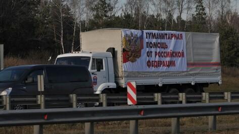 Гумконвой в Воронежской области попал в ДТП из-за лопнувшего колеса