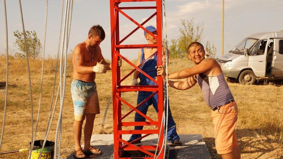 В богучарском селе Твердохлебовка установили вышку сотовой связи