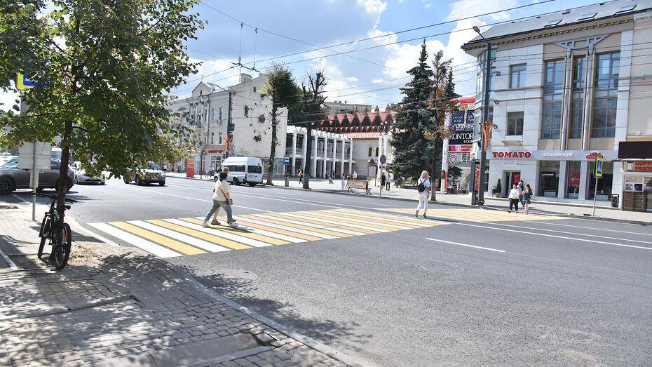 Дорожную разметку в центре Воронежа обновят к майским праздникам