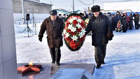 Панинцы поздравили защитницу Воронежа