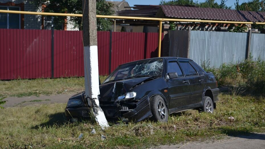 В Ольховатке водитель въехал в столб