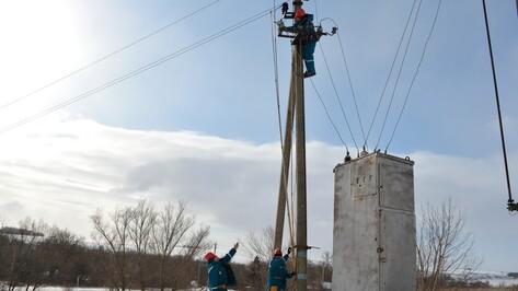 В нижнедевицком селе построили новую электролинию для детсада