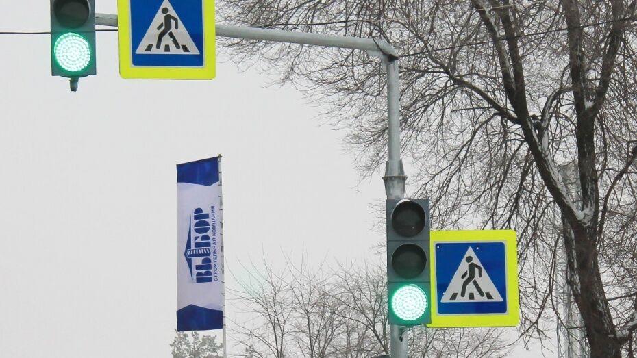 Компания «Выбор» установила светофор для пешеходов воронежского ЖК «Озерки»