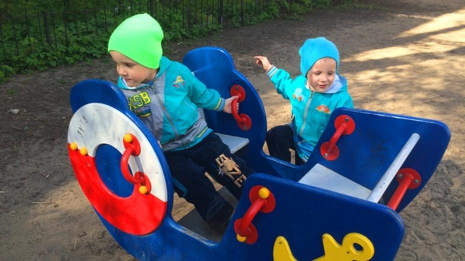 Во дворах Воронежа до Дня знаний появятся 60 новых детских и спортивных площадок