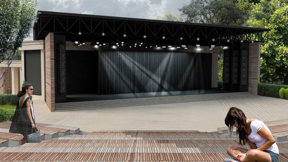 Зеленый театр в воронежском центральном парке достроят к 31 мая