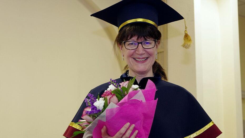 Английский профессор стала Почетным доктором Воронежского университета