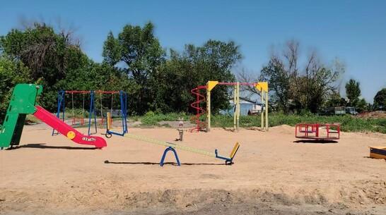 Детская площадка впервые появилась в петропавловском селе Бычок