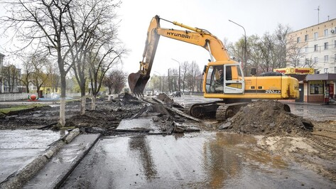 В Лисках начали капитальный ремонт центральной улицы