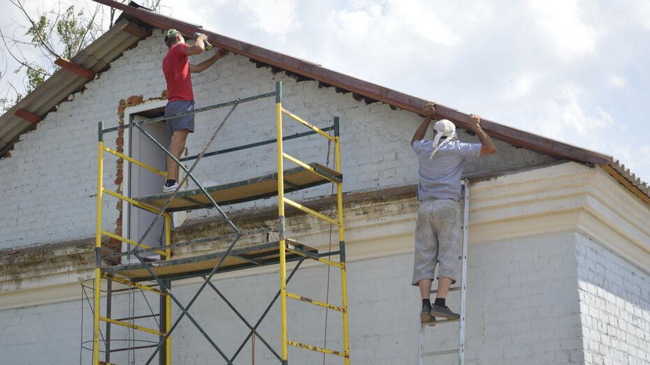 В Березовской школе Подгоренского района заменили протекающую крышу