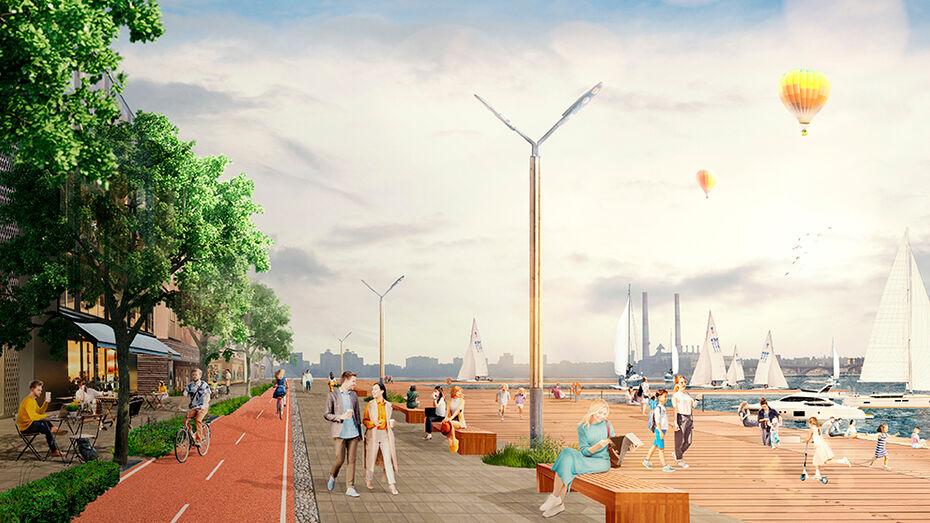 Объявили открытый конкурс на проектирование Петровской набережной в Воронеже