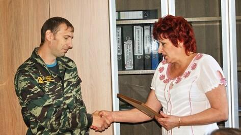 Поворинская администрация отметила огнеборца за мужество на пожаре