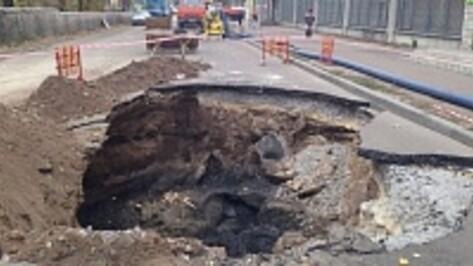Воронежцы на месяц застрянут в пробках из-за провалившейся под землю бетономешалки