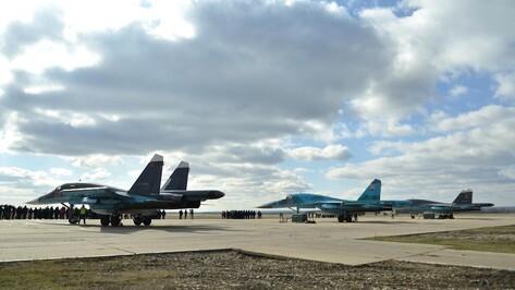 Первая группа самолетов из Сирии приземлилась в Воронежской области
