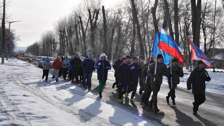 Семилукцы отметили годовщину освобождения райцентра пробежкой