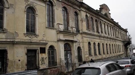 Дома Вигеля в Воронеже наполовину отремонтировали